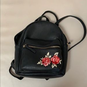 Zumiez Faux Leather Mini Backpack With Embroidery